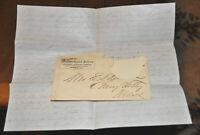 1860s Michigan Central Railroad Envelope & Correspondence Letter RR Chicago IL !
