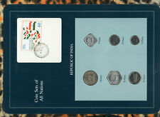 Coin Sets of All Nations India 1988-1990 UNC 1 Rupee 50,25 Paise 1990