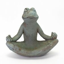 Yoga Frosch Futterschale Vogeltränke Futterplatz meditierend Wasser Vogel Garten