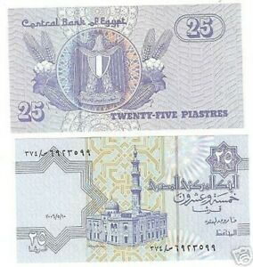 EGYPT 25 PIASTRES AWESOME UNCIRCULATED STANDING EAGLE