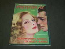 1932 JANUARY PHOTOPLAY MOVIE MAGAZINE - GRETA GARBO & CLARK GABLE COVER - M 369