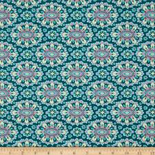 By 1/2 Yard Amy Butler Floral Fabric ~ Eternal Sunshine Cloisonne Lake Turquoise