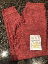 Lularoe OS Heathered Pink New Amore Valentines Leggings