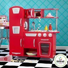 New - KidKraft Red Vintage Kitchen Kids Playset (Christmas Gift)