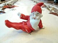 "Antique Bisque Sitting Santa Elf Figurine ""Germany"""