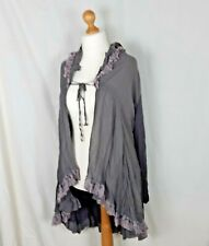 Cape Cardigan Grey and Pink Made in Italy Cotton