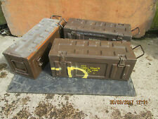 AMMO BOXES EX BRITISH ARMY £ 30 EACH - BRITISH MADE - 2 X FOLDING CARRY HANDLES