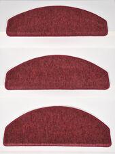 15er Set Stufenmatten Treppenmatten Schlinge ROCKY Bordeaux (16) ca 65x24x4 cm