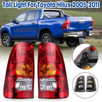 Pair Rear Tail Brake Light Lamp For Toyota Hilux 2WD 4WD Ute Emark 2005-2011 New