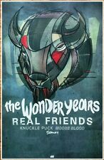THE WONDER YEARS REAL FRIENDS MOOSE BLOOD SEAWAY 2016 Tour Ltd Ed RARE Poster!