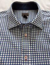 Men's H&M Formal / School / Casual Shirt - Blue & White Grid Design - 16''