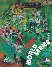 "Pete Rose Signed 1975 World Series Baseball Program ""1975 W.S. Champs"" Beckett"