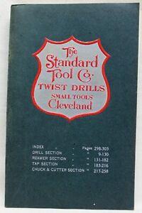 STANDARD TOOL COMPANY CATALOG NO.15 TWIST DRILLS & SMALL TOOLS 1930s VINTAGE