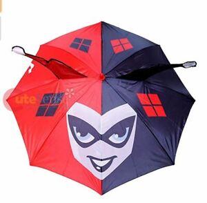 Dc Comics Harley Quinn Umbrella 3D Face with Ear Large Umbrella