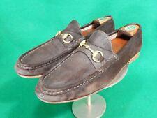 GUCCI Men's Brown Suede Leather Horsebit Loafers Shoes US 9.5 D vintage