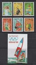 CAMBODIA 1996 OLYMPIC GAMES, ATLANTA (3rd issue) SET & MIN SHEET *FINE MNH*
