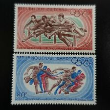 TCHAD POSTE AÉRIENNE PA N°49/50 JEUX OLYMPIQUES MEXICO 1968 NEUF ** LUXE MNH