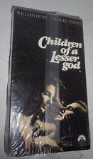CHILDREN OF A LESSER GOD, WILLIAM HURT, MARLEE MATLIN , VHS