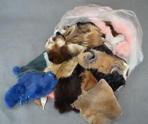 Bastelbeutel Fellreste zum Basteln, Kaninchen, Pelzreste, Fellreste,Mittelalter