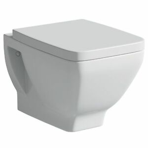 Moods Neroli Wall Mounted Toilet with Soft Close Seat Square Design