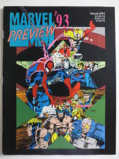 Marvel '93 Preview (March 1993) Magazine Spiderman X-Men Avengers (M841)