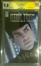 Star Trek: Boldly Go #11 photo cover__CGC 9.8 SS__Signed by Zachary Quinto