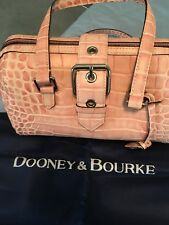 NWT Vintage Dooney and Bourke Pink Nile  Leather Satchel Style Handbag