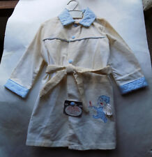 Nos Vintage White Corduroy Robe Embroidered Applique 24 Months