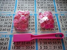 200 PINK MAGNETIC BINGO CHIPS WITH A PINK MAGNETIC BINGO WAND