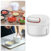 Manual Food Chopper Mini Hand Pull Food Processor Garlic Grinder Press Z2U2
