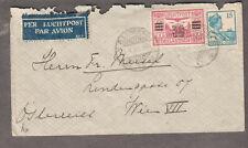 Netherlands Indies 1931 cover Bandoeng to Wien VII Austria