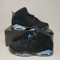 Nike Air Jordan 6 VI Retro BG Black Carolina Blue GS 384665 006 Size 7Y