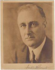 US President Franklin D. Roosevelt – vintage signed photograph