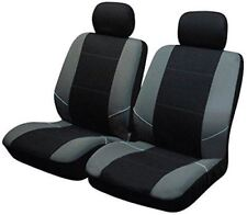 Black/Grey Front Pair of Car Seat Covers for VW Volkswagen Polo All Models