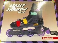 New In Box Brookfield Street shadow 1012 Black Inline Skates Roller Blades Sz 5