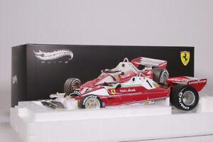 Ferrari 312 T2 Monaco GP 1976 rot/weiß Hot Wheels Elite 1:18 NEU OVP BLY40