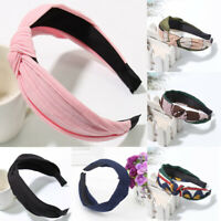 Women Fashion Headband Twist Hairbands Bow Knot Cross Headwrap Hair Band Hoop AU
