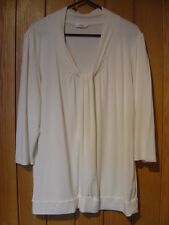 M & S Ivory Ladies Top Size 16 3/4 Sleeves (Ref Z) Ex Con