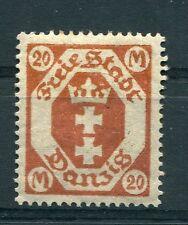 DANTZIG (ville libre) - DANZIG, 1921-23, timbre 99, ARMOIRIES, neuf (*)*
