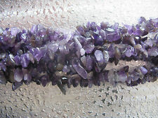 Amethyst Gemstone Beads Chips Jewelry Findings 12 inch Strand