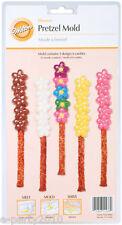 WILTON FLOWERS PRETZEL CANDY MOLD ~ Baking Birthday Party Supplies Desserts