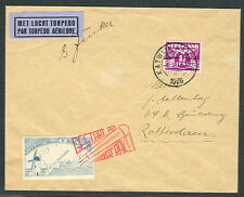 NETHERLANDS, 1935 Rocket Mail cover tied & signed