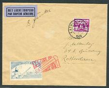 Netherlands, 1935 Rocket Mail cover tied & signed