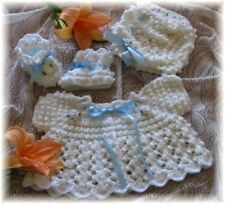 """CROCHET PATTERN for /""""GUMDROPS/"""" Baby Sweater Set BY REBECCA LEIGH--6//12 months"""