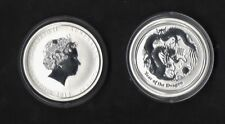 AUSTRALIA LUNAR II YEAR OF THE DRAGON 2012 50 cents SILVER ARGENTO BULLION