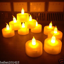 12pcs Electronic Led Battery Operated Flameless Tea Light Candles Wedding Party