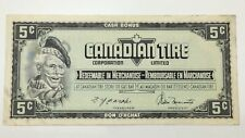 1974 Canadian Tire 5 Five Cents CTC-S4-B-BN Circulated Money Banknote E133