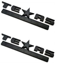-TWO- GLOSS BLACKED OUT TEXAS EDITION EMBLEM DECAL CHEVY SILVERADO SIERRA TRUCK