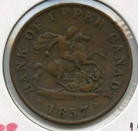 1857 Bank of Upper Canada - Half Penny Token - JN604