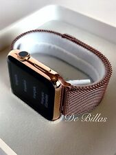 24K Rose Gold Plated 42MM Apple Watch SERIES 2 rose gold Milanese Loop Band